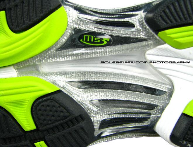 Asics Kayano 17 midfoot shank closeup