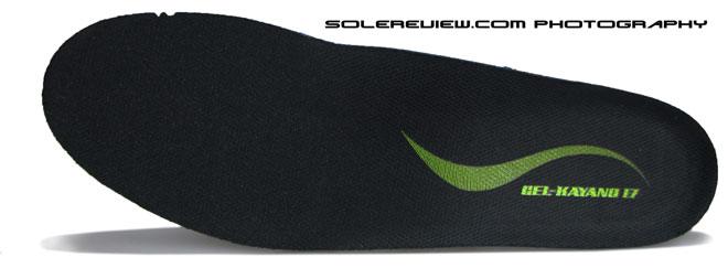 Asics Kayano 17 sockliner top view