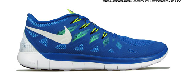 nike free trainer 5.0 blue white screening