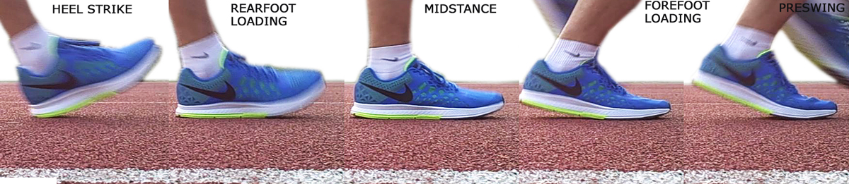 Nike Air Pegasus 31 midsole deformation freeze frame.