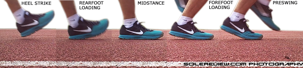 Nike Air Pegasus 30 midsole deformation freeze frame.