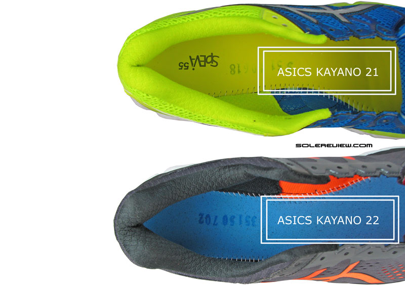asics gel-kayano 21 vs 22