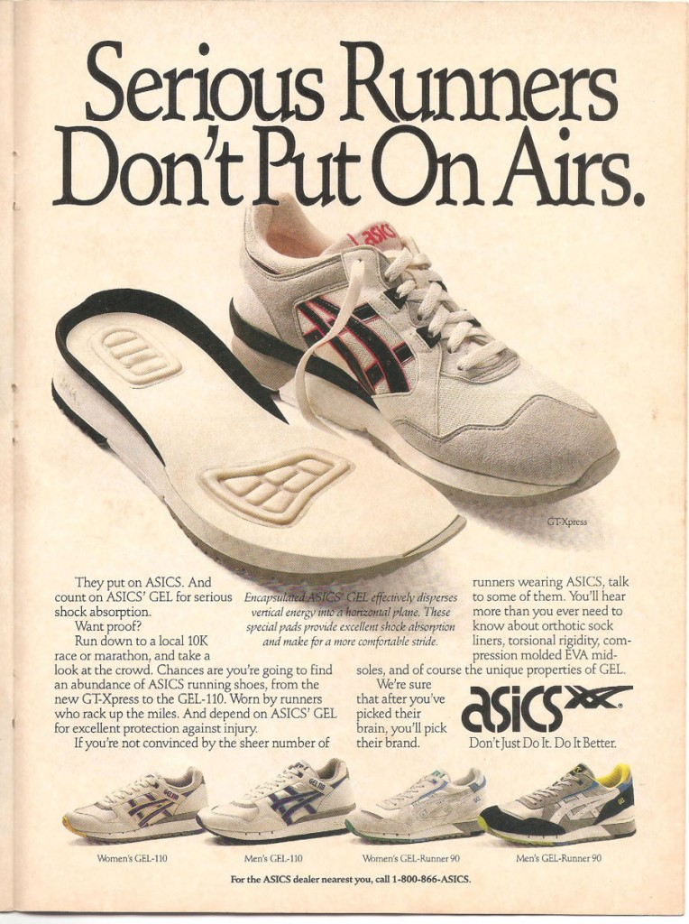 Vintage Asics Gel ad 1990