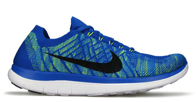 Womens Nike Free 4.0 V2 Fireberry Night Blue Cool Grey Shoes