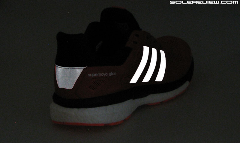 84b16a93370 adidas Glide 8 Boost. The level of reflectivity has been upped on the Glide  8 Boost.