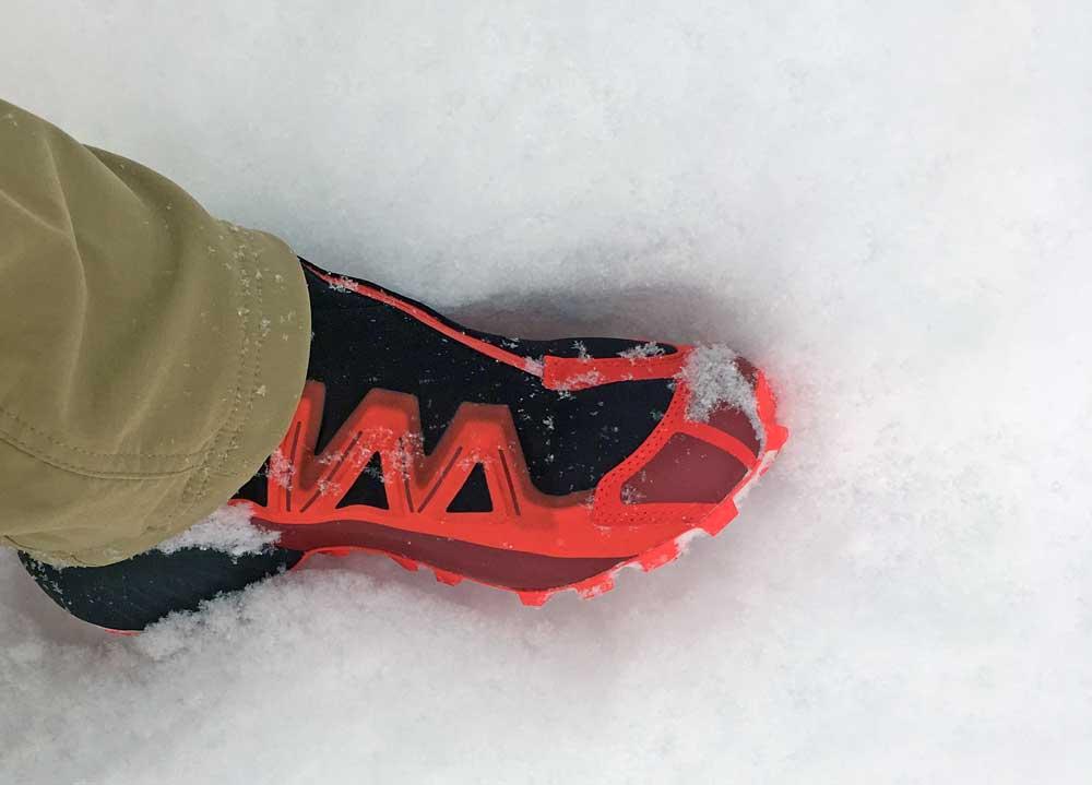 Salomon_Snowspike_in_Snow