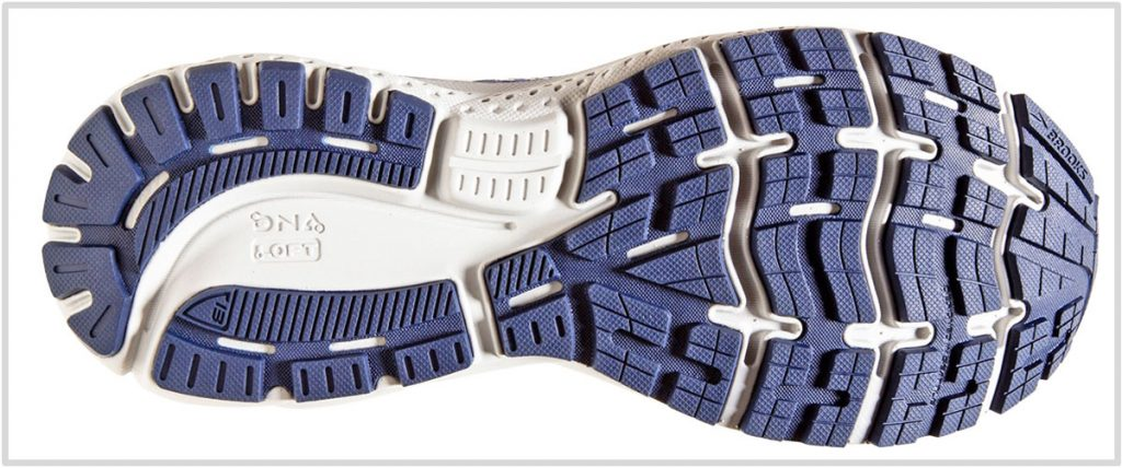 Outsole of the Brook Ghost 13