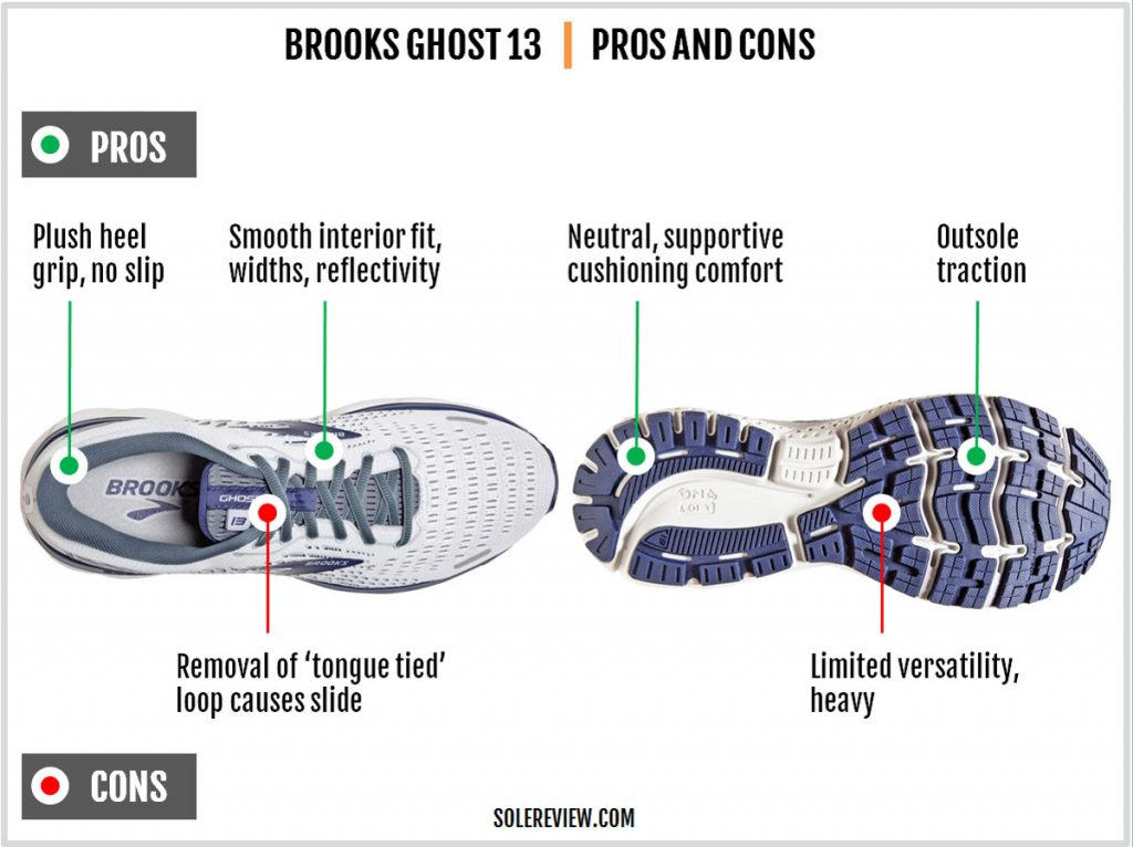 Pros and Cons of the Brook Ghost 13