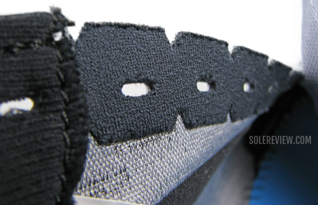 Lacing panel of the Brooks Hyperion Tempo