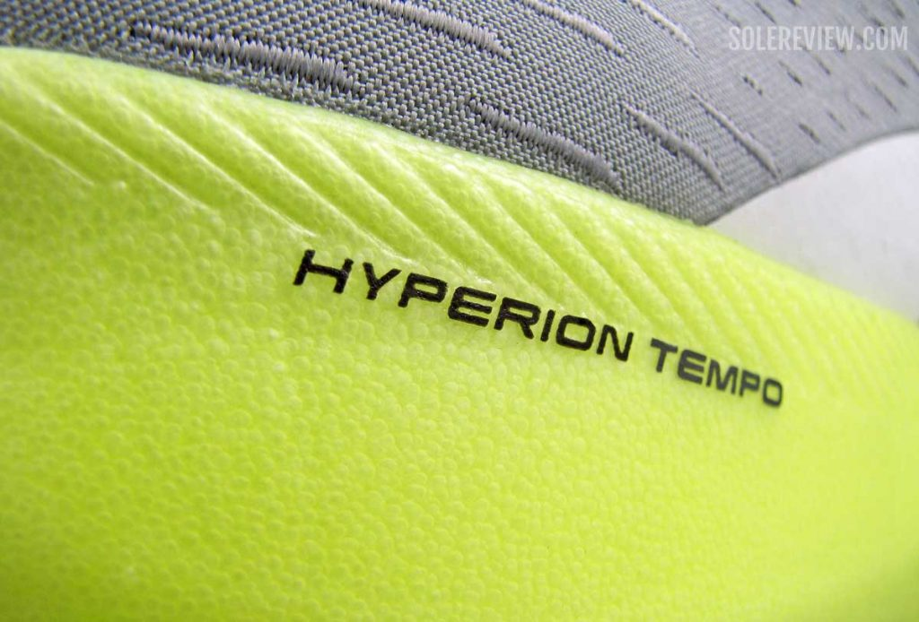 Midsole material of the Brooks Hyperion Tempo