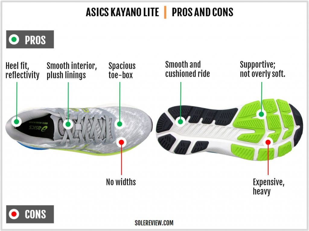 Pros and cons of the Asics Kayano Lite