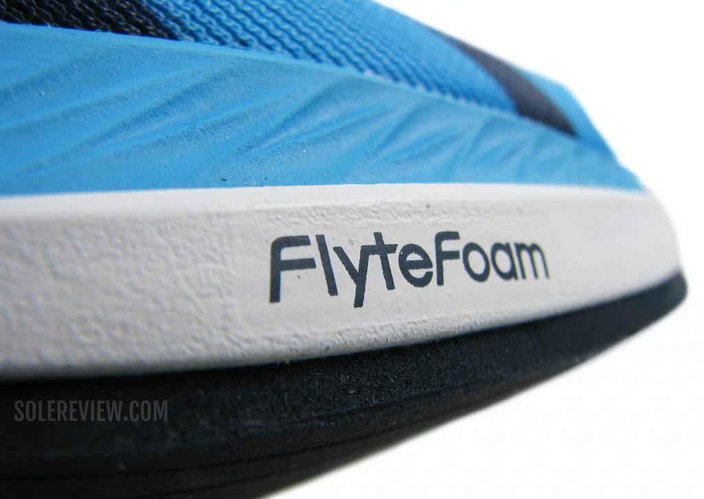 Flytefoam on the Asics Metaracer
