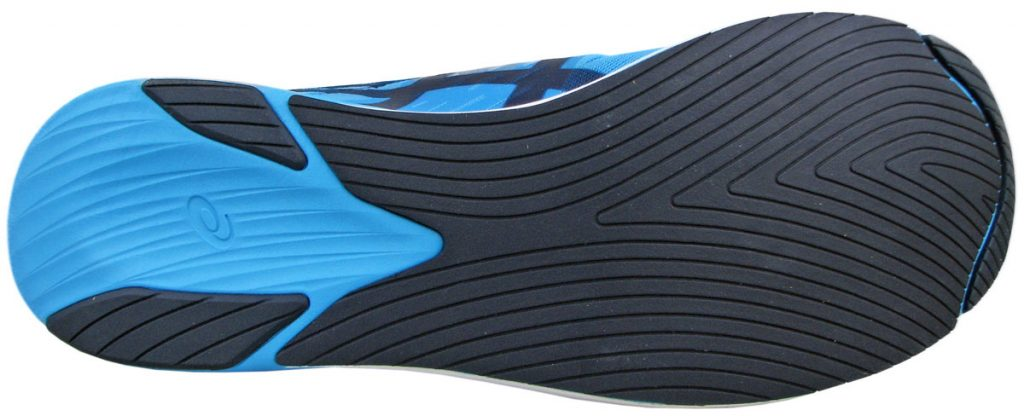 The outsole of the Asics Metaracer