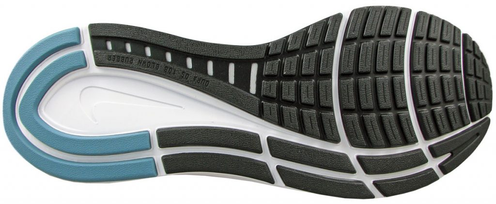 The outsole of the Nike Zoom Structure 23.