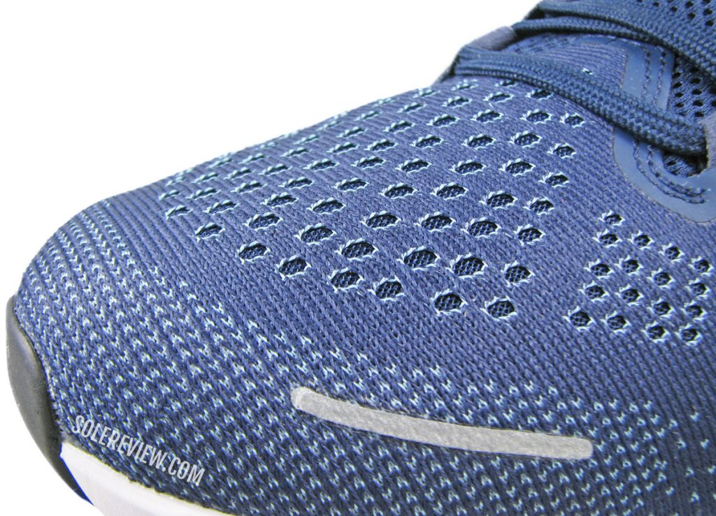 Toe-box of the Nike Zoom Structure 23.