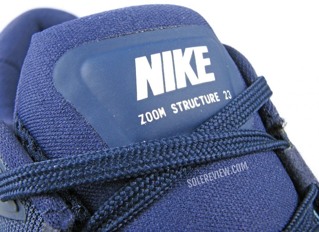 Tongue of the Nike Zoom Structure 23.