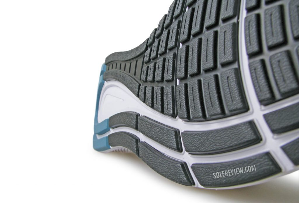 Outsole of the Nike Zoom Structure 23.