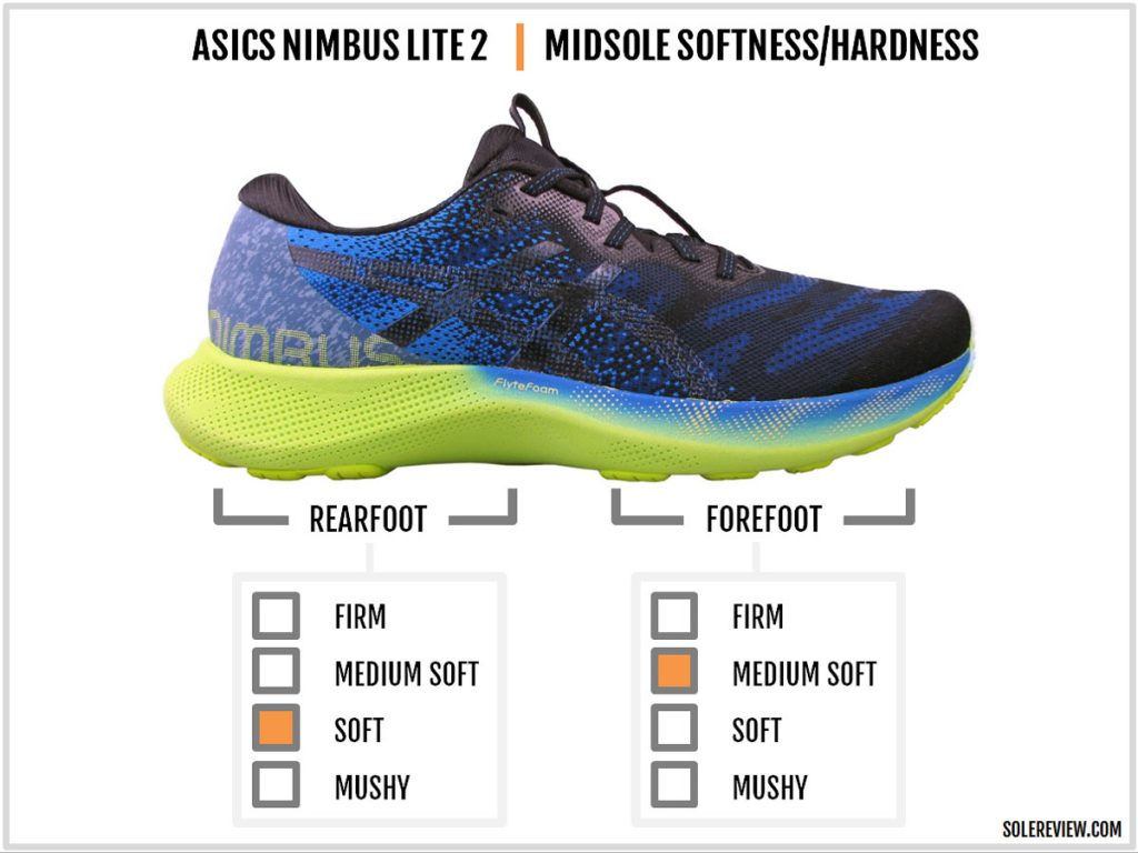 The cushioning softness of the Asics Gel Nimbus Lite 2.
