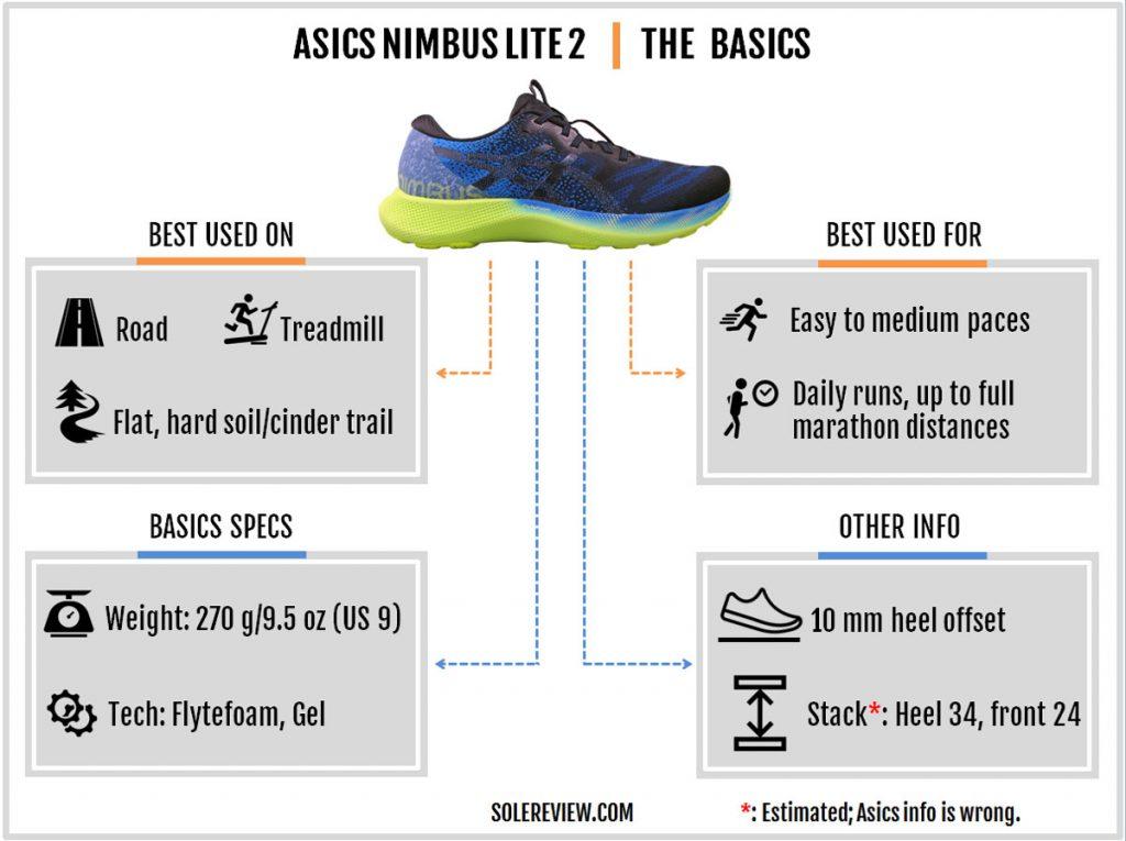 The basics of the Asics Gel Nimbus Lite 2.