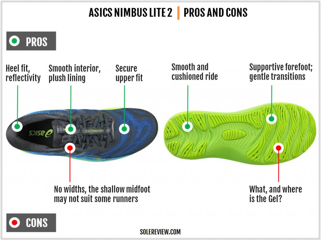 Pros and cons of the Asics Gel Nimbus Lite 2.