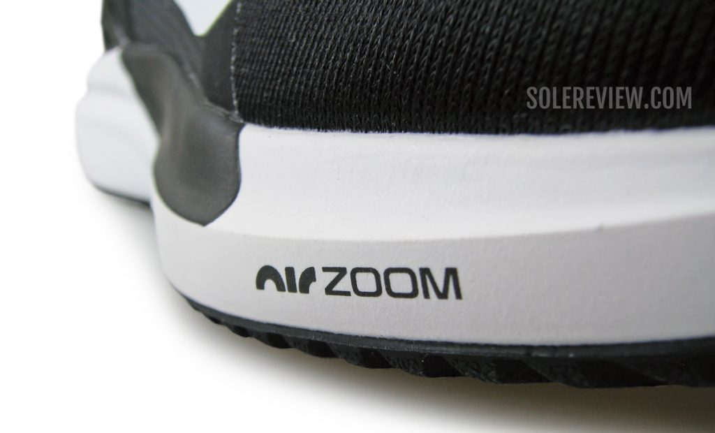 The forefoot Zoom of the Nike Air Zoom Vomero 15.