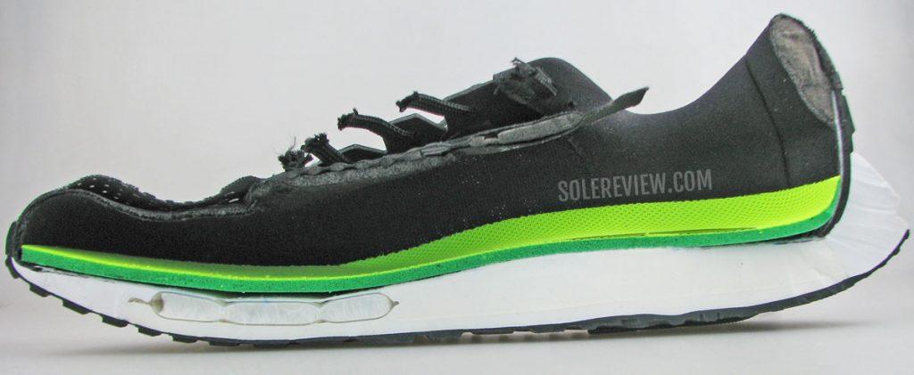 Nike Vomero 15 cut into half