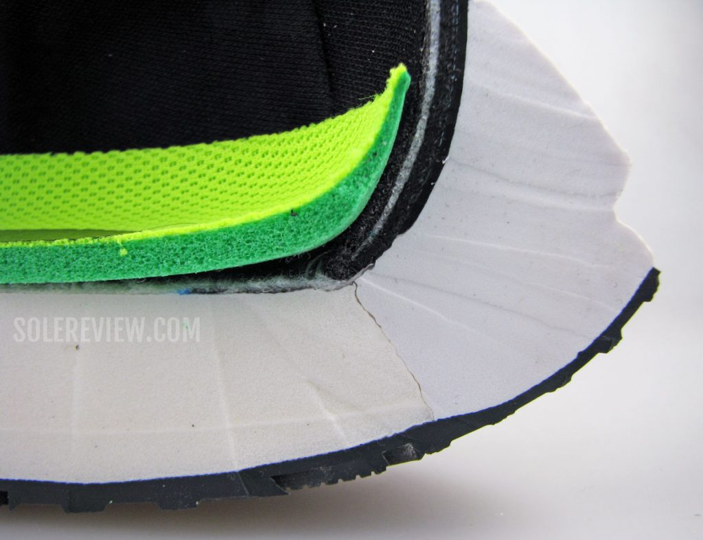 Nike Vomero 15 midsole and insole cut into half