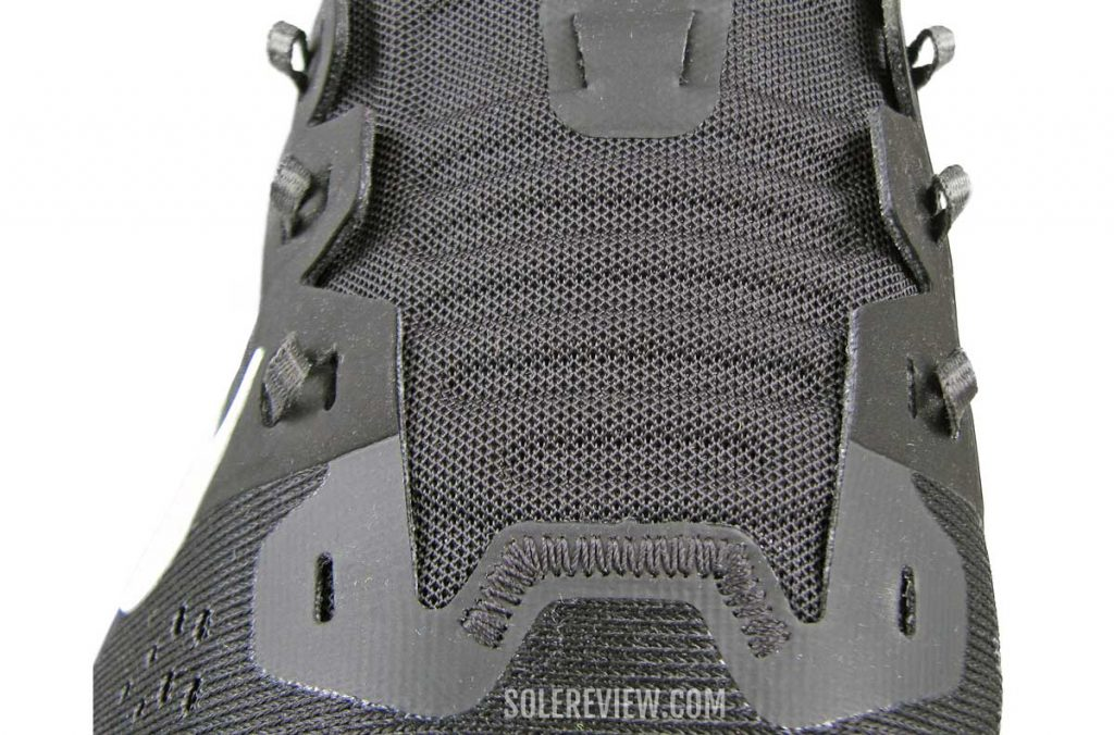 The laces of the Nike Air Zoom Vomero 15.