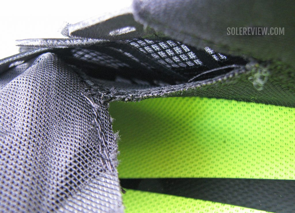 The inner sleeve of the Nike Air Zoom Vomero 15.