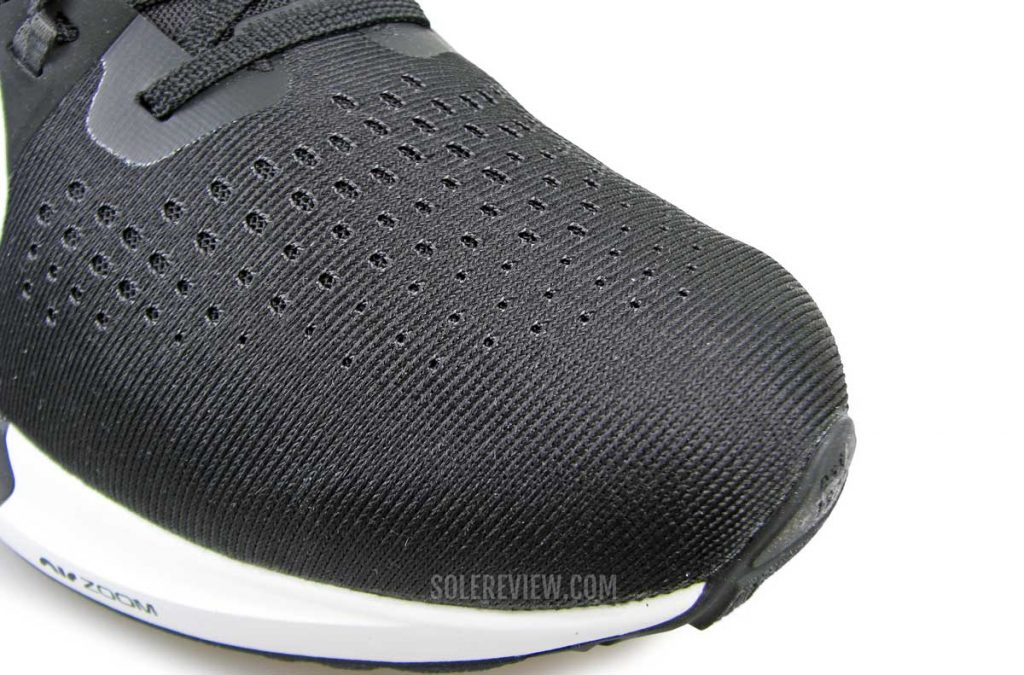 The toebox of the Nike Air Zoom Vomero 15.