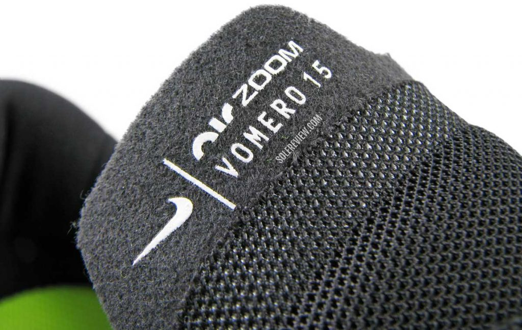 The tongue flap of the Nike Air Zoom Vomero 15