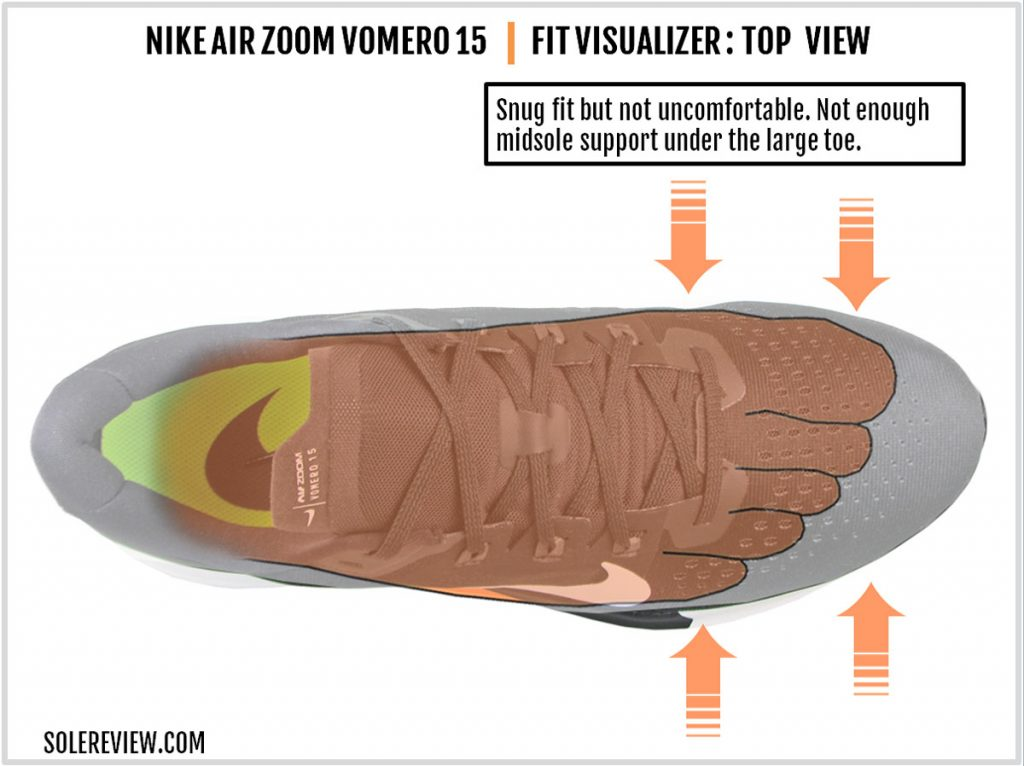 Nike Air Zoom Vomero 15 upper fit