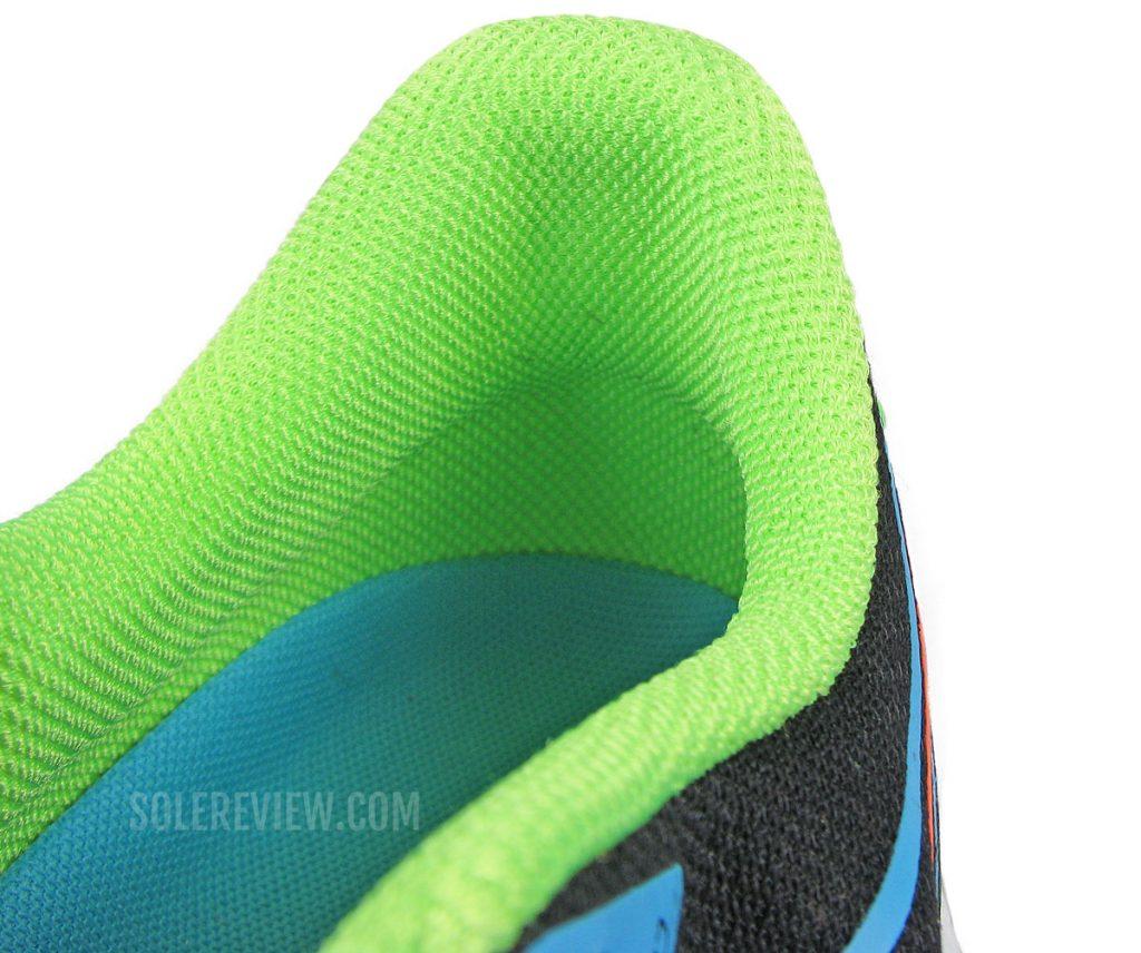 The heel collar of Saucony Endorphin Speed