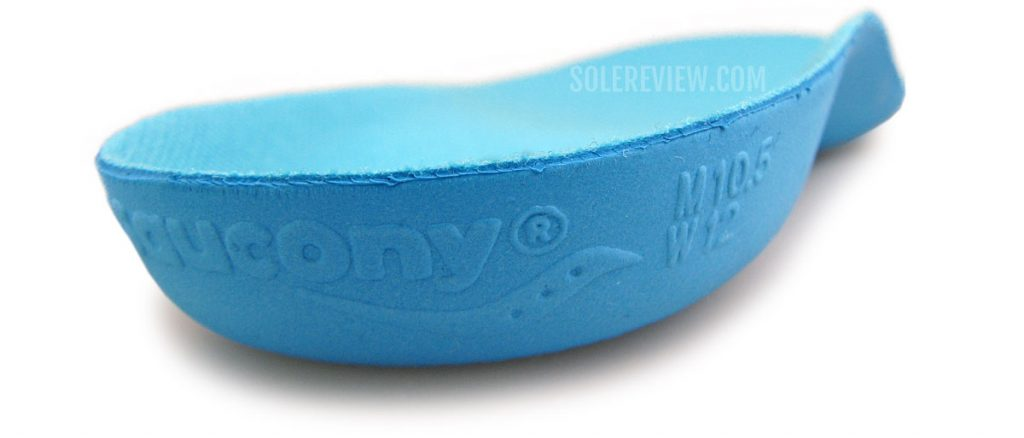 The removable insole of the Saucony Endorphin Speed