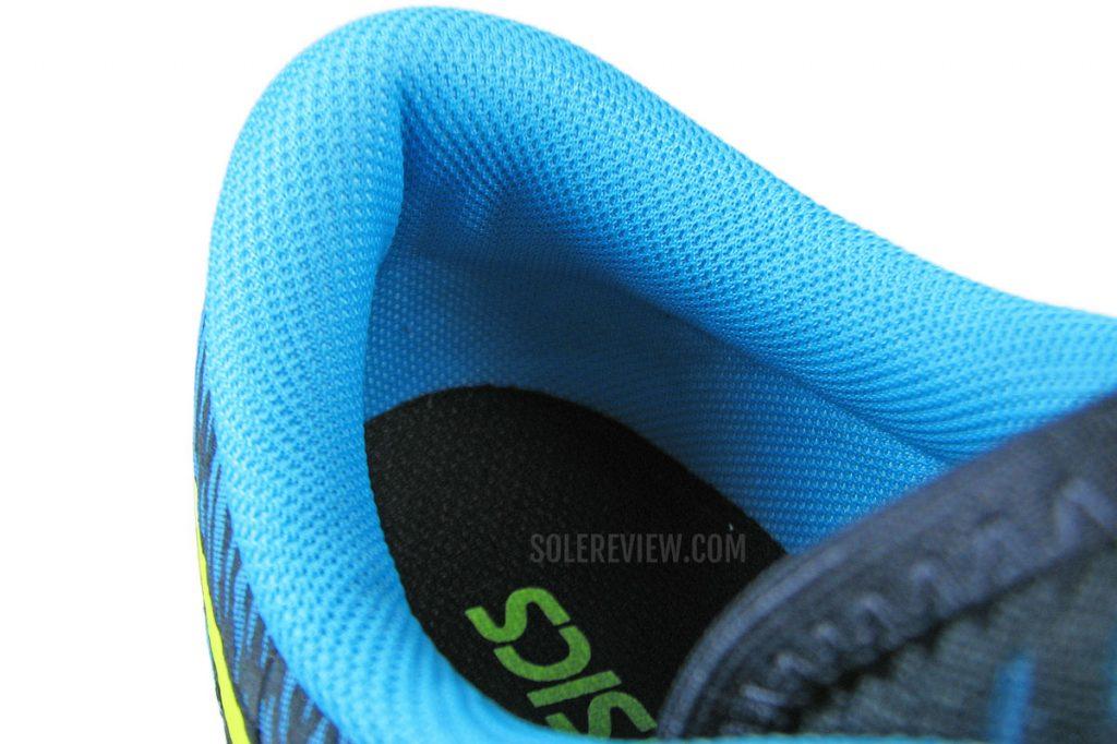 Asics Hyper Speed heel collar