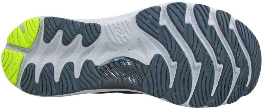 The outsole of Asics Gel-Nimbus 23