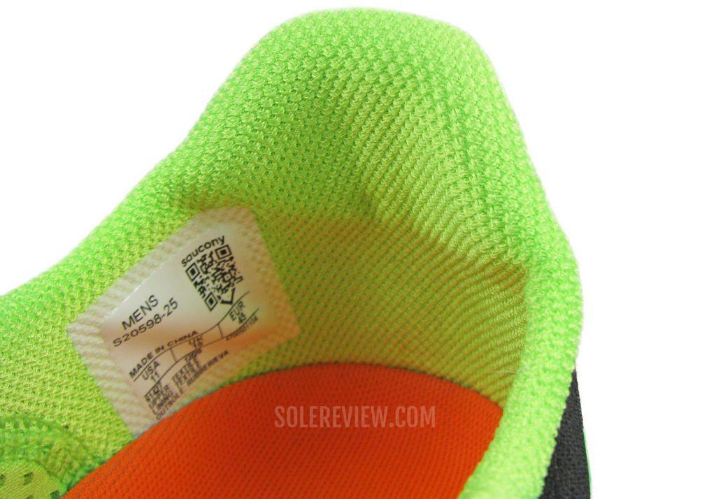 The heel of the Saucony Endorphin Pro