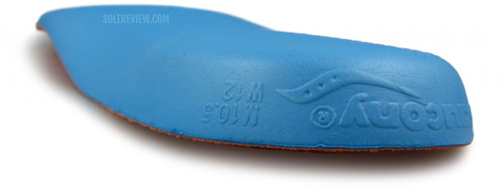 The removable insole of the Saucony Endorphin Pro