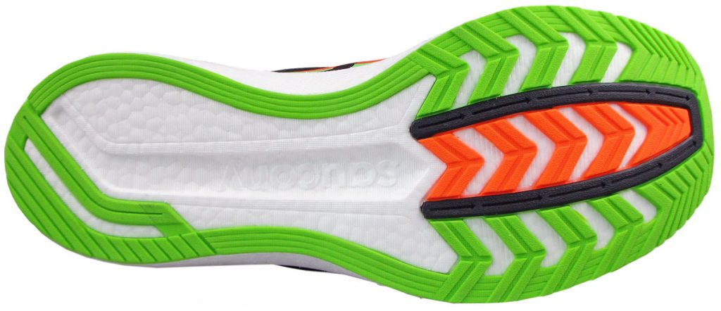 The outsole of the Saucony Endorphin Pro