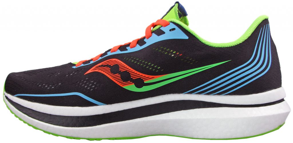 The Saucony Endorphin Pro side view