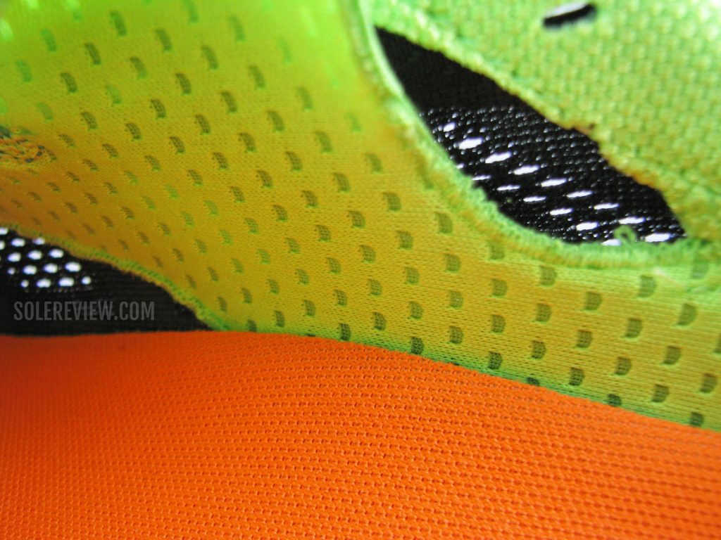 The tongue gusset of the Saucony Endorphin Pro