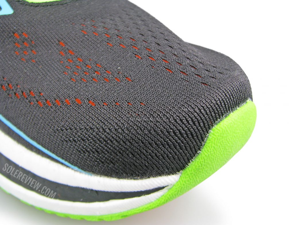 The toe-box of the Saucony Endorphin Pro