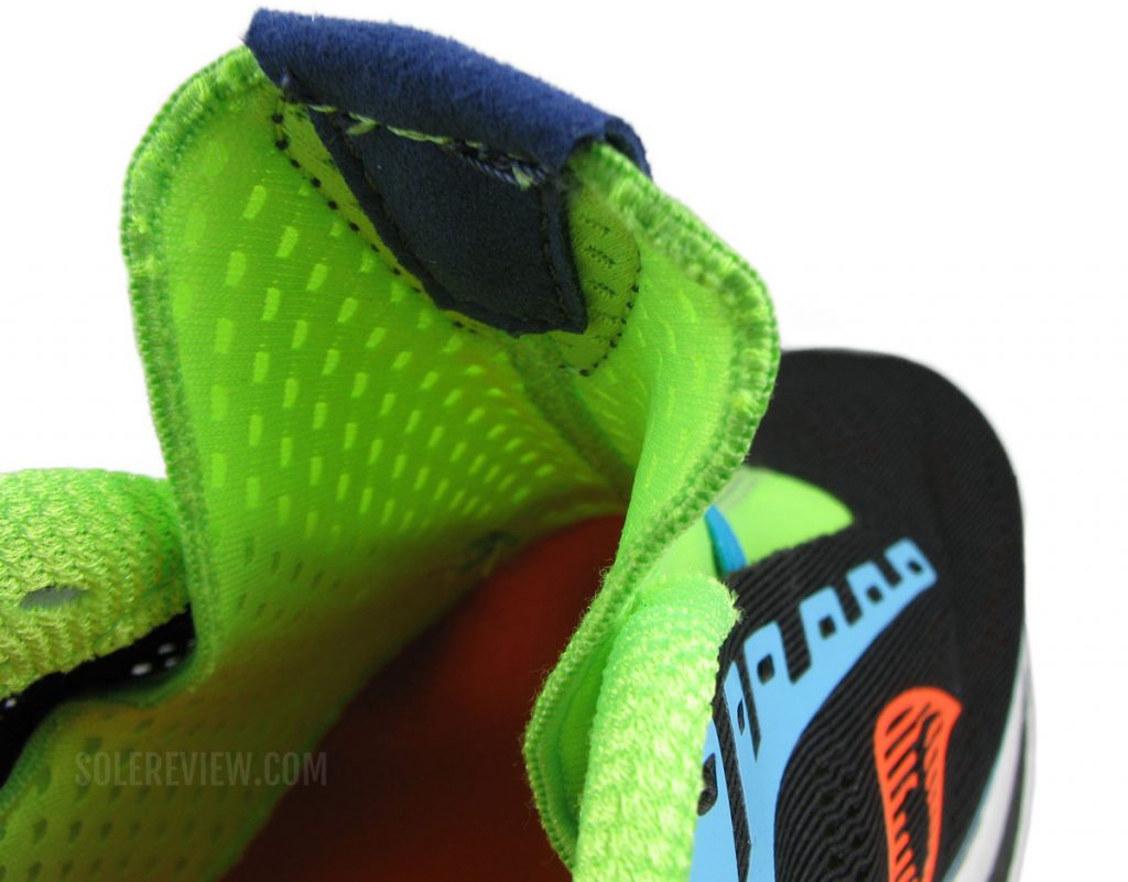 The tongue flap of the Saucony Endorphin Pro