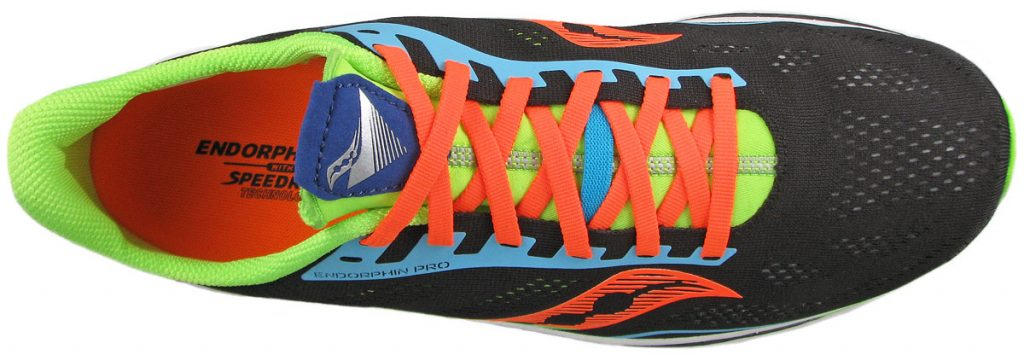The top view of the Saucony Endorphin Pro