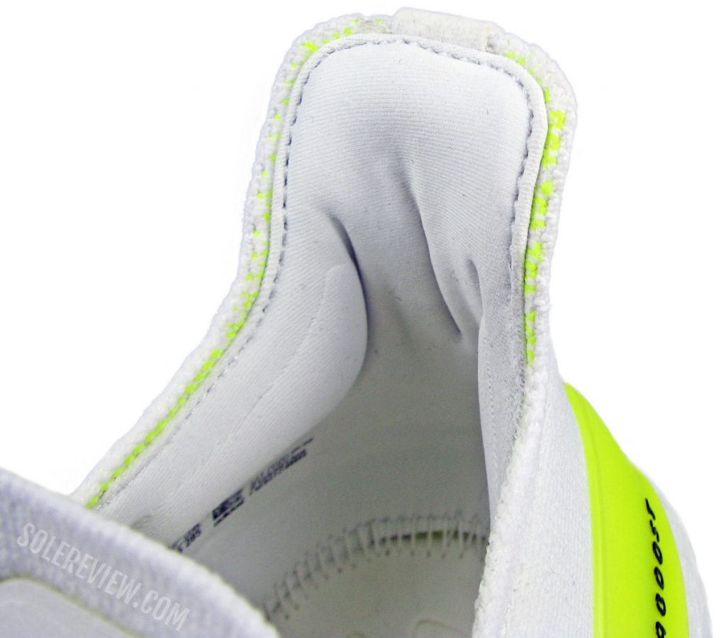 The heel collar of the adidas Ultraboost 21