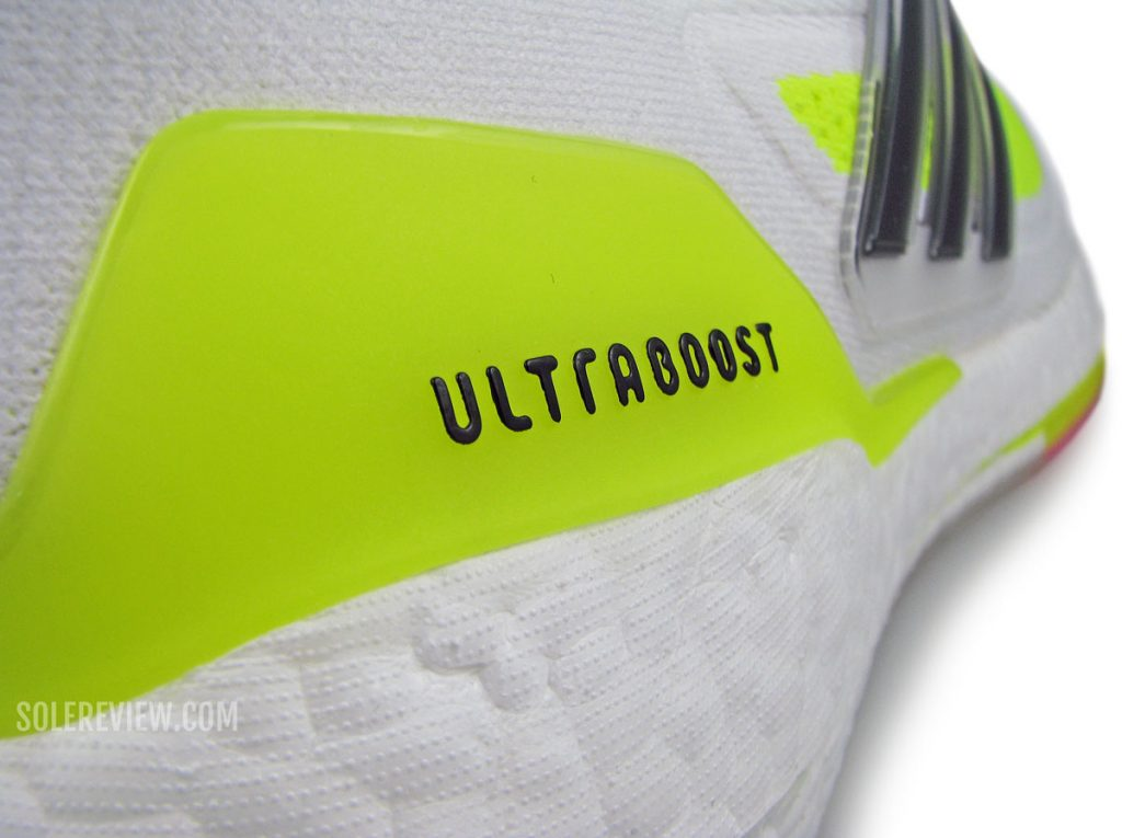 The heel clip of the adidas Ultraboost 21