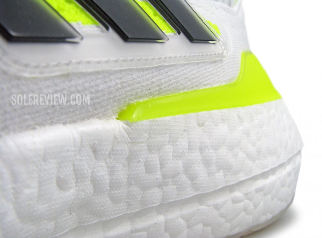 The heel stabilizer of the adidas Ultraboost 21