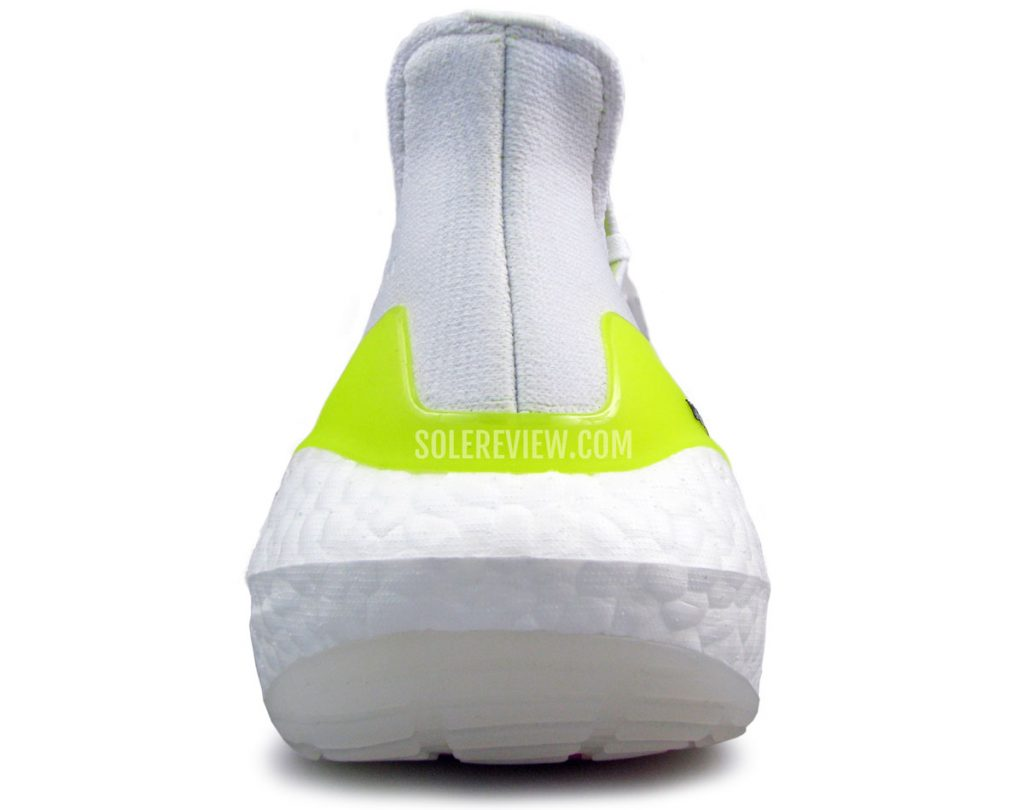 The heel midsole of of the adidas Ultraboost 21