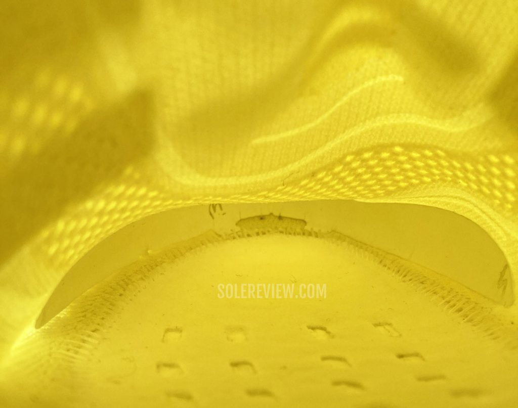 The toe-box of the adidas Ultraboost 21