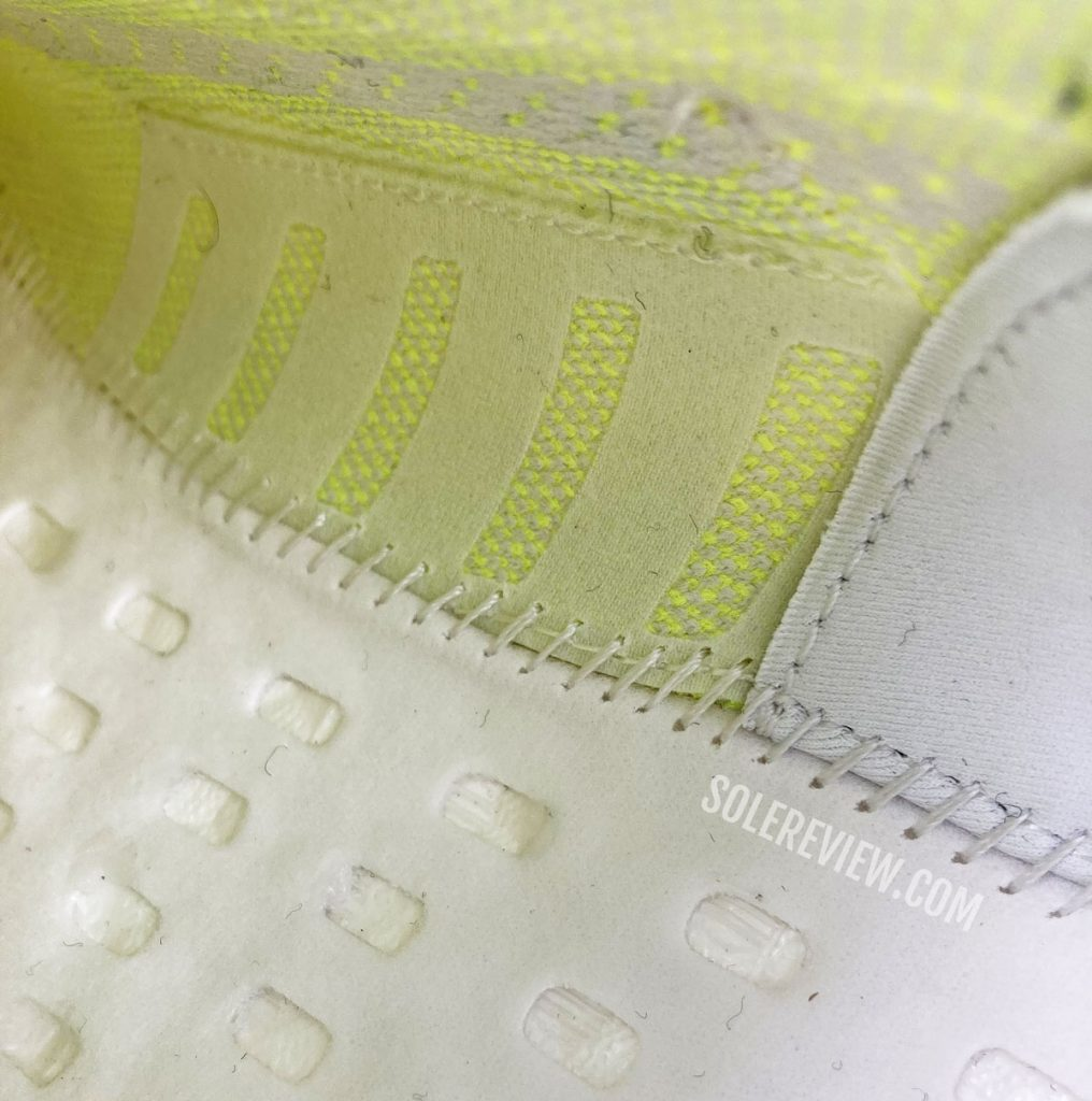 The interior of the adidas Ultraboost 21